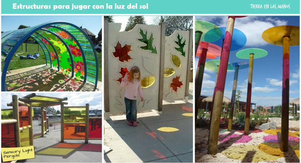 Estructuras que crean sombras de colores Jugar con luces y sombras - sombras para patios