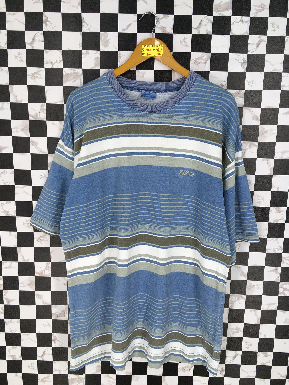 142402e7 Vintage QUIKSILVER 90s Stripes Tshirt Large Vintage 90's Border Stripes  Blue Longboard Surfing Skateboarding Tshirt Size L by JunkDeluxeRetro on  Etsy