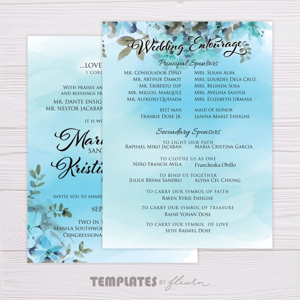 Blue Watercolor Floral Wedding Invitation Watercolor Floral Wedding Invitations Wedding Invitations Wedding Invitation Content