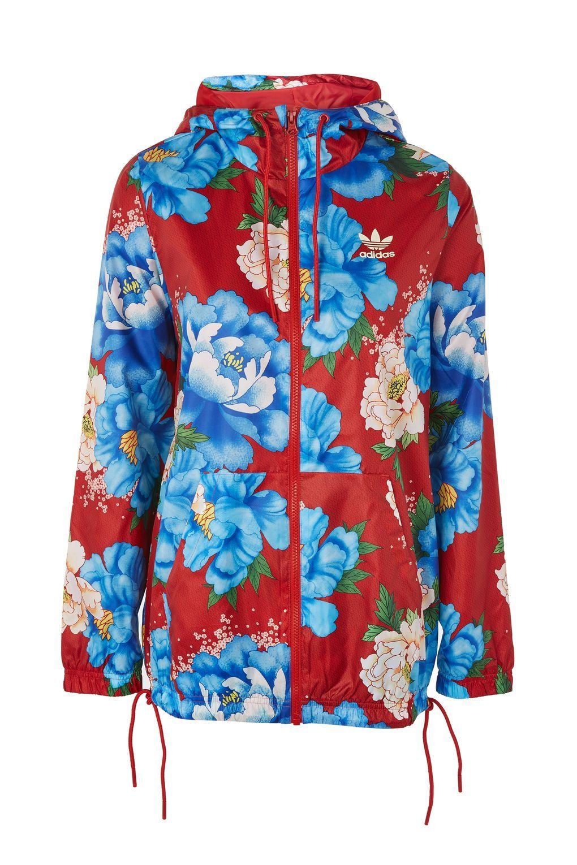 Adidas Originals chaqueta cortaviento floral ropa Pinterest