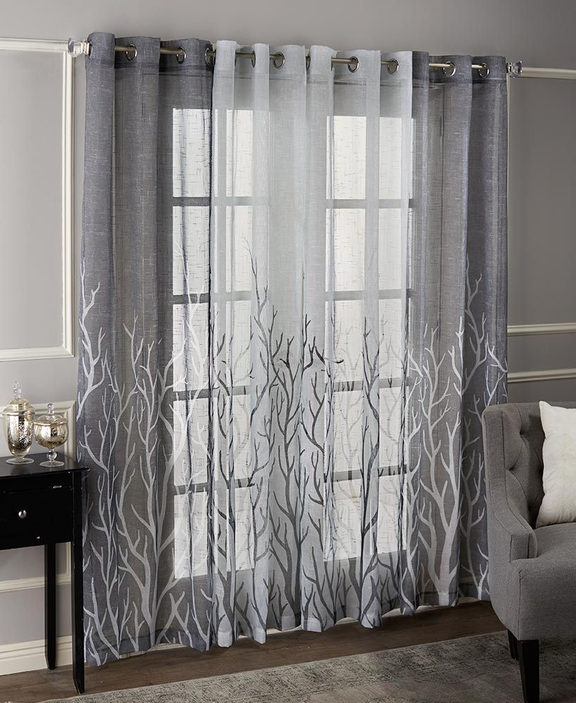 Brooke Branches Grommet Curtain Pairs Living Room Decor Curt