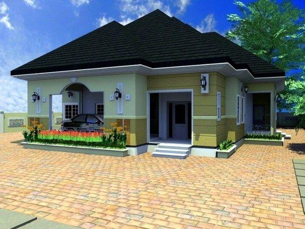 Bungalow Designs In Nigeria 4 Bedroom Bungalow Design In Nigeria Bungalow House Plans Bungalow Design Bungalow House Design