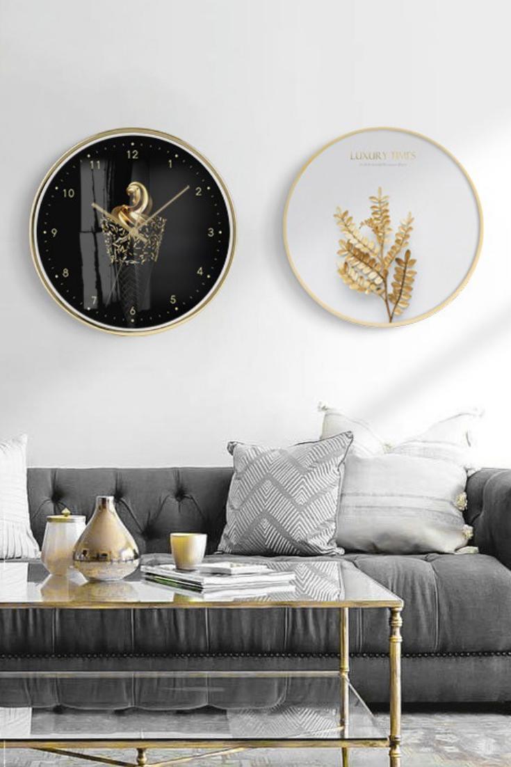 Zhan Golden Wall Clock Gold Wall Clock Golden Wall Gold Walls