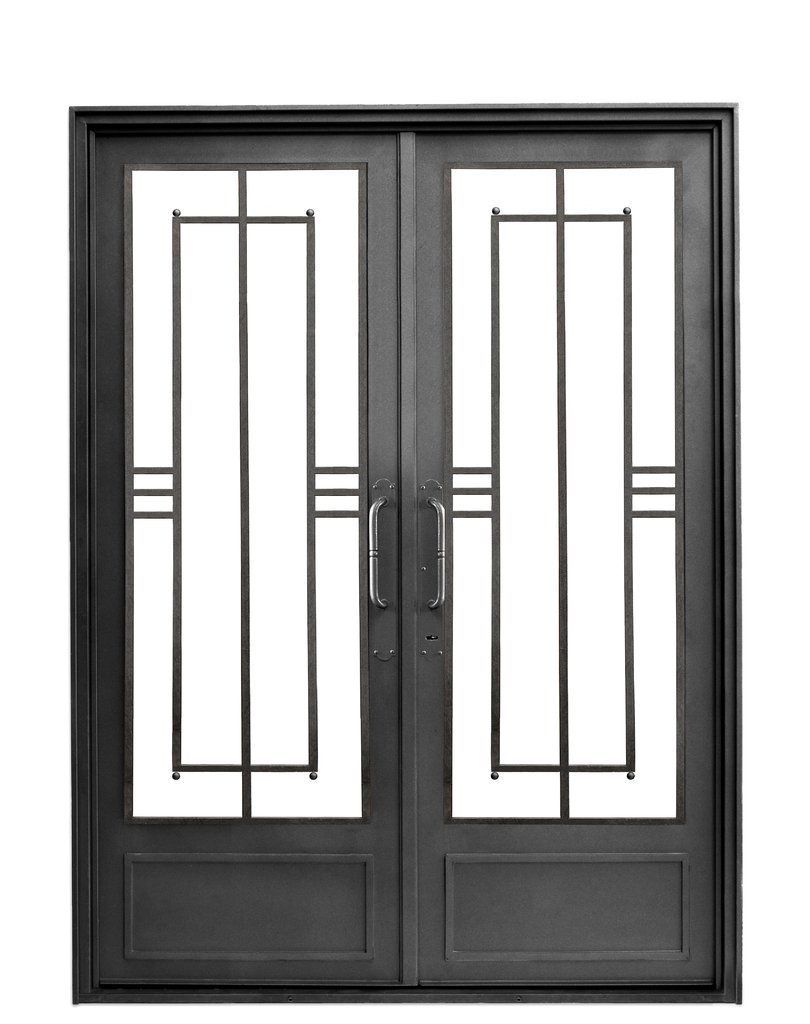 Puerta de entrada moderna recta berta del hierro design for Modelos de puertas de fierro modernas