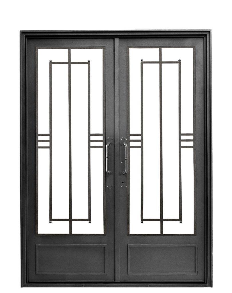 Puerta de entrada moderna recta berta del hierro design for Puerta herreria moderna