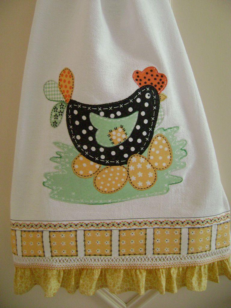 Pano de prato toallas pinterest pa o de cocina delantales y gallinas - Patchwork para cocina ...