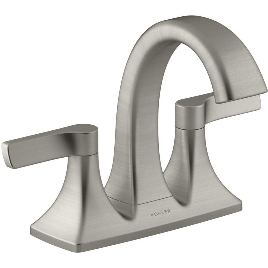 Photo of Kohler Maxton Brushed Nickel 2-Handle 4-In Centerset Watersense Bathroom Sink Faucet With Drain R22476-4D-Bn