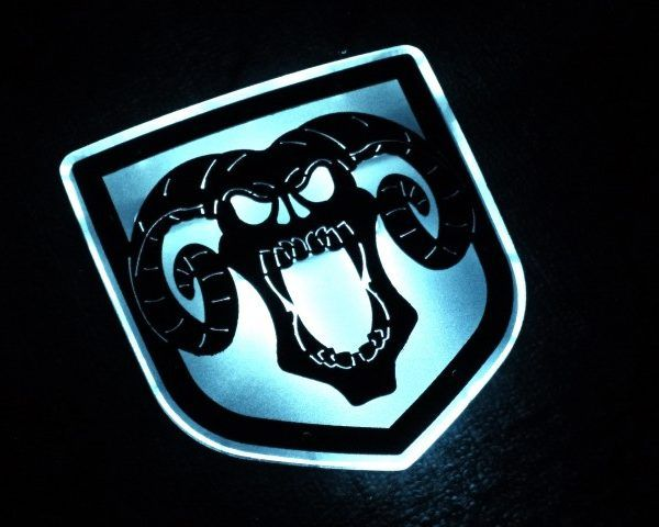 Illuminated Demon Skull Tailgategrille Emblem Truck Stuff Dodge