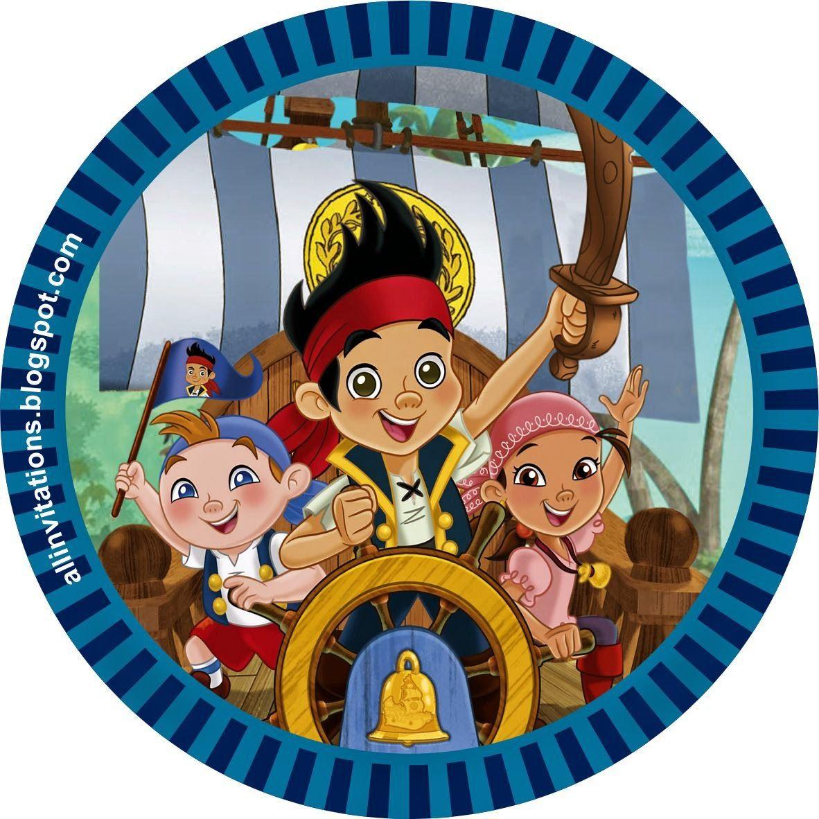 Etiqueta redonda Jake y los piratas | etiquetas | Pinterest ...