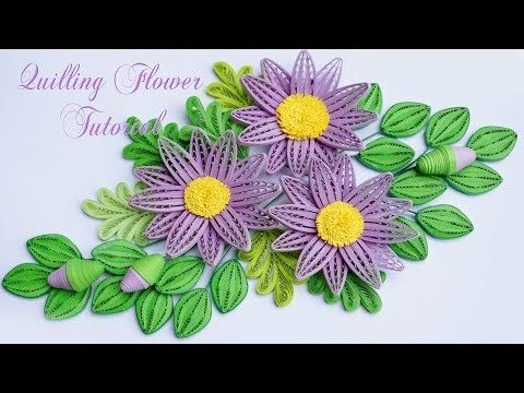 Quilling Daisy Flower Using Comb Tutorial
