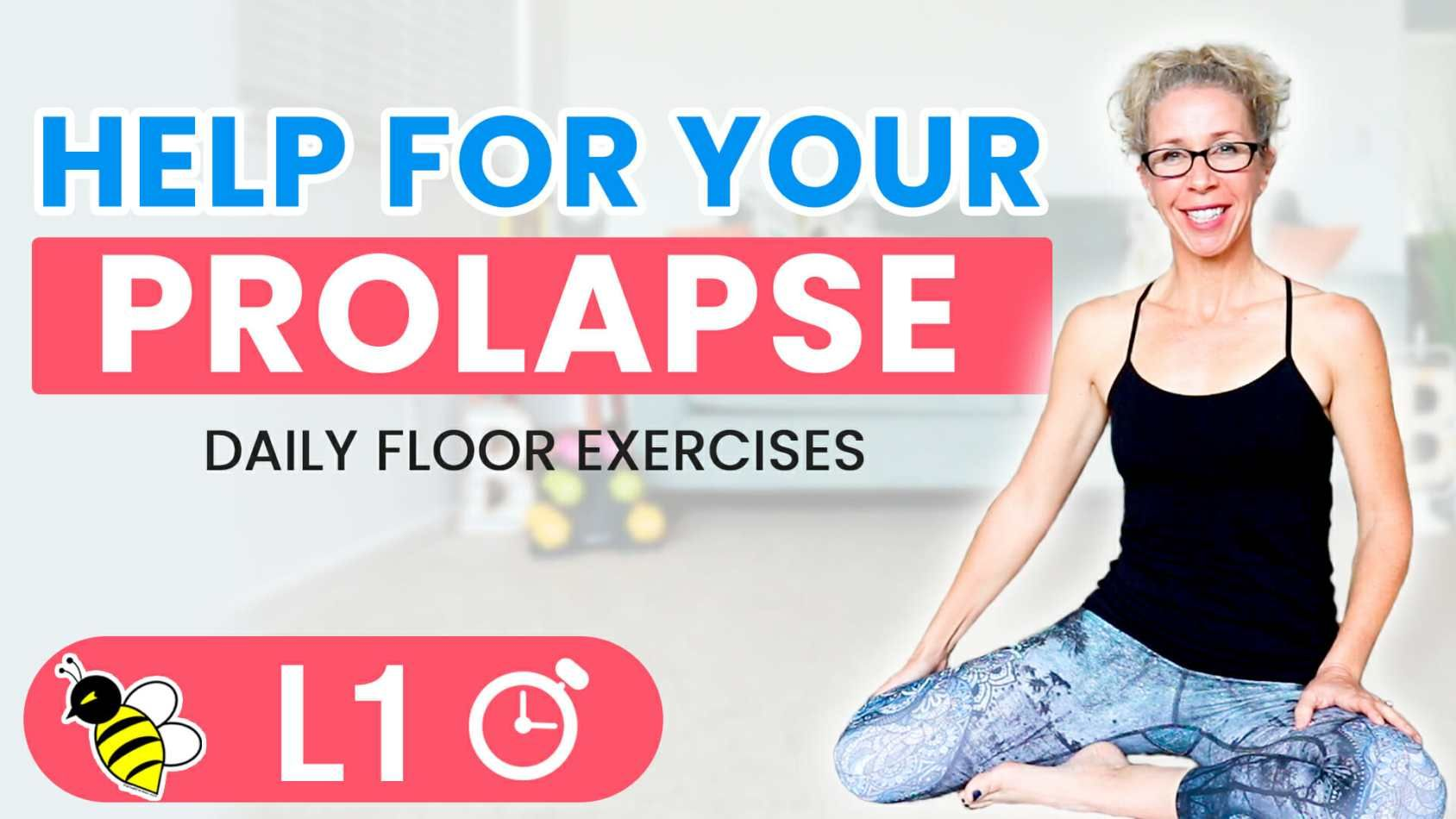 Help for your pelvic prolapse simple exercises floor