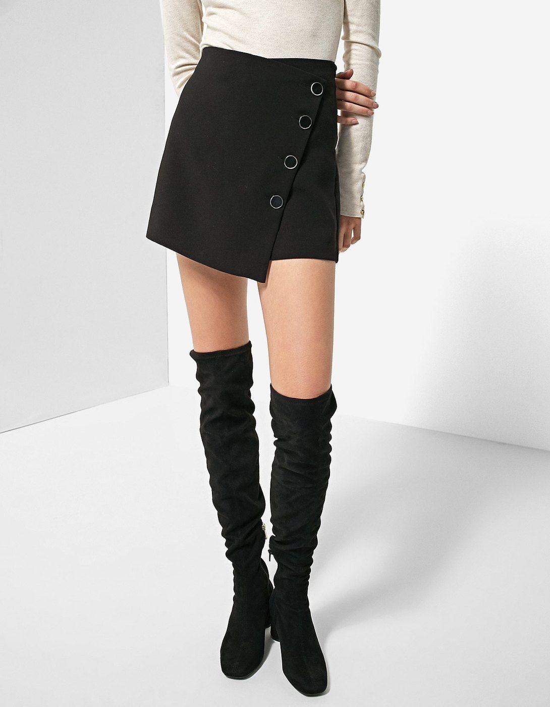 Falda skort botones - Pantalones  30812010cb60