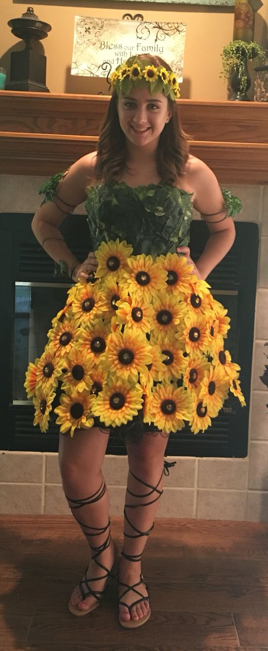 Sunflower Costume | Headdress, Sunflowers and Costumes