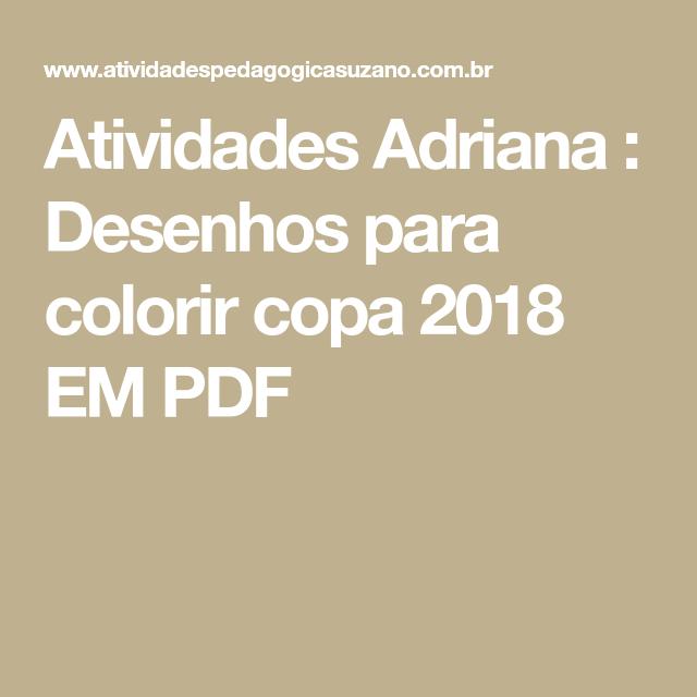 desenhos para colorir copa 2018 em pdf ed infantil pinterest