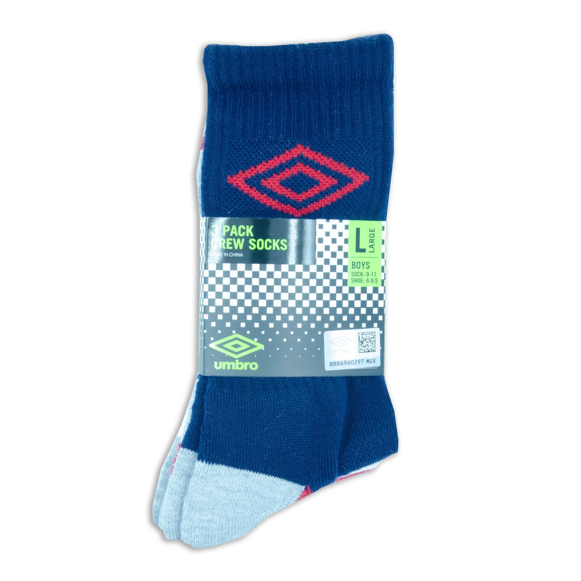 POLO RALPH LAUREN NEW KIDS BOYS BLUE ATHLETIC SPORT HIGH CREW SOCKS 9-11