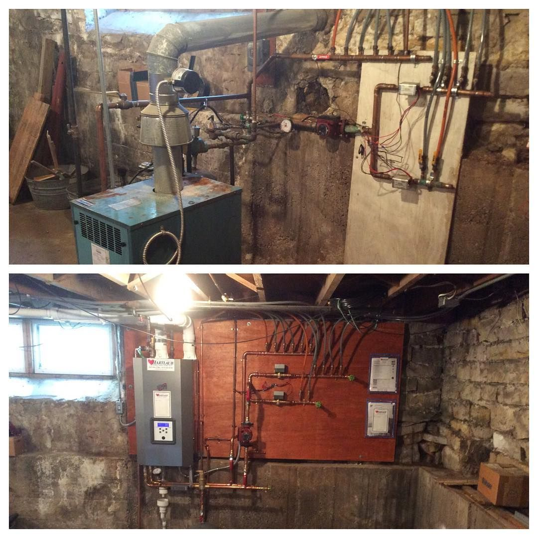 Boiler Before Vs After Hartlaub Services Mid Efficient To High