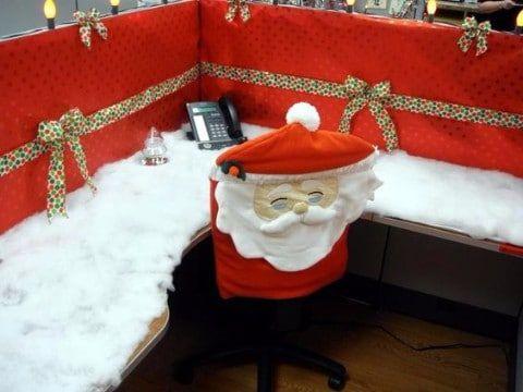 Decoracion navide a para oficinas 2015 fiestas tematicas - Adornos navidenos para oficina ...