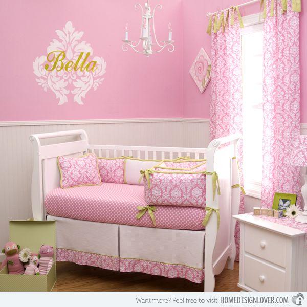 15 Pink Nursery Room Design Ideas for Baby Girls | Nursery, Room ...