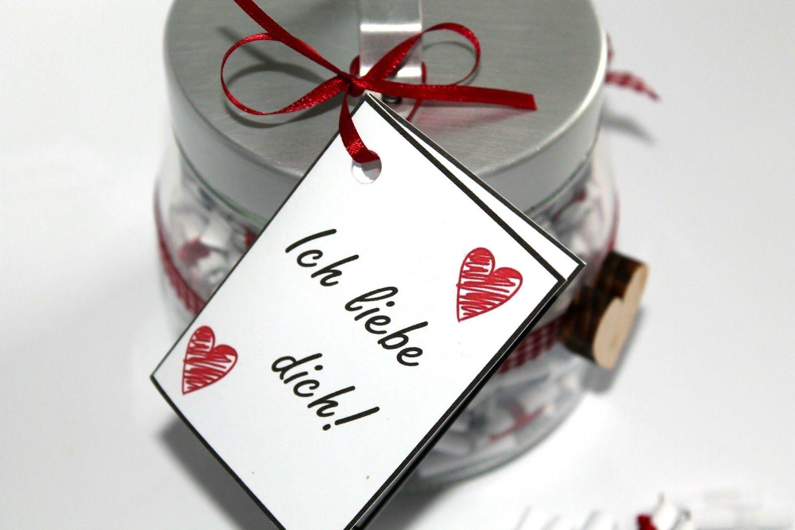Diy Basteln 365 Grunde Warum Ich Dich Liebe Glas In