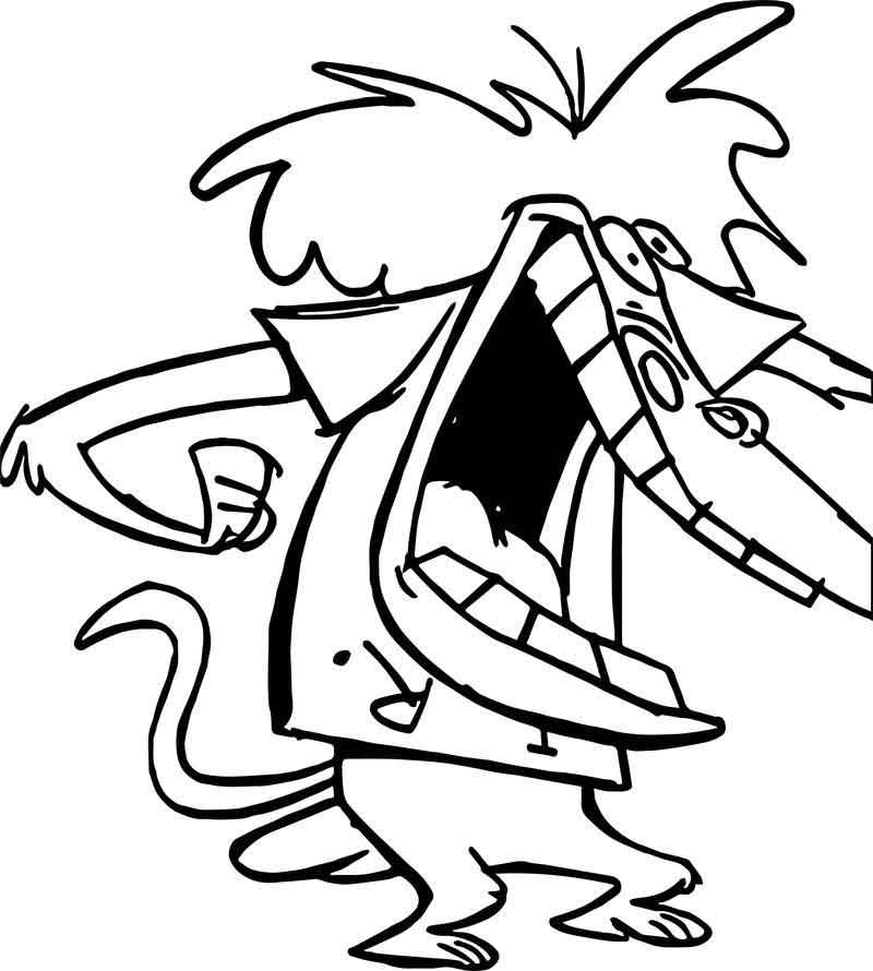I R Baboon Looking Scared Coloring Page Coloring Pages Baboon