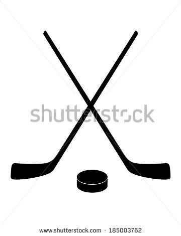 Stock Vector Crossed Hockey Sticks And Puck Silhouette Vector 185003762 Jpg 360 470 Pixels Kalli Amstutz I Was Thinking Th Hockey Stick Hockey Tattoo Hockey