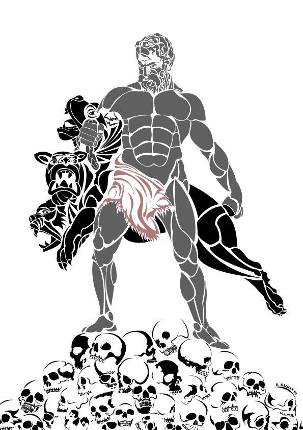 Poseidon Staff Tattoo: Hades Tattoo, Tattoo Designs