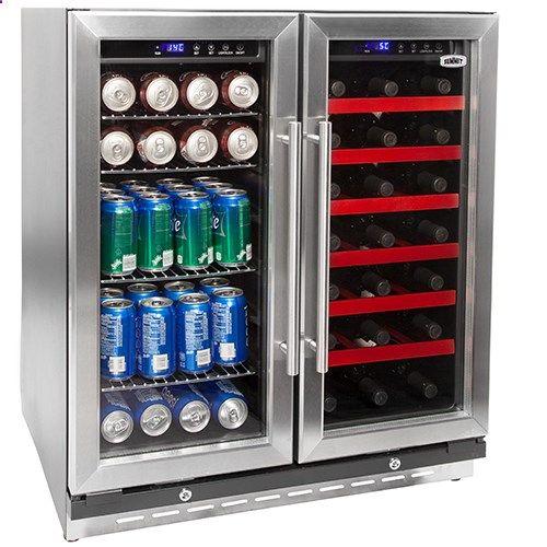 wine fridge summit 30 inch dual zone wine and beverage center - Dual Zone Wine Cooler
