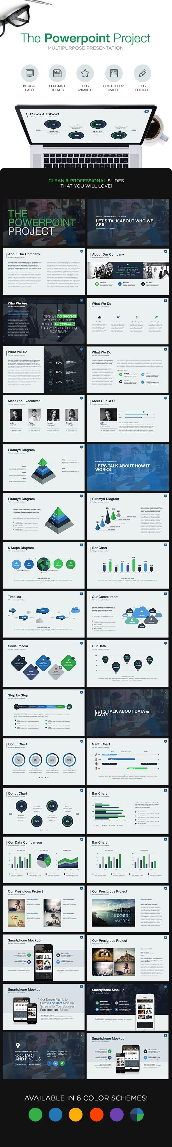 The Powerpoint Project  Powerpoint Template Powerpoint Templates