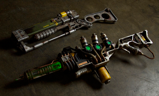 replica of the plasma gun from Fallout 3