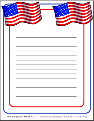 47ba111f594a American Flag border paper for writing