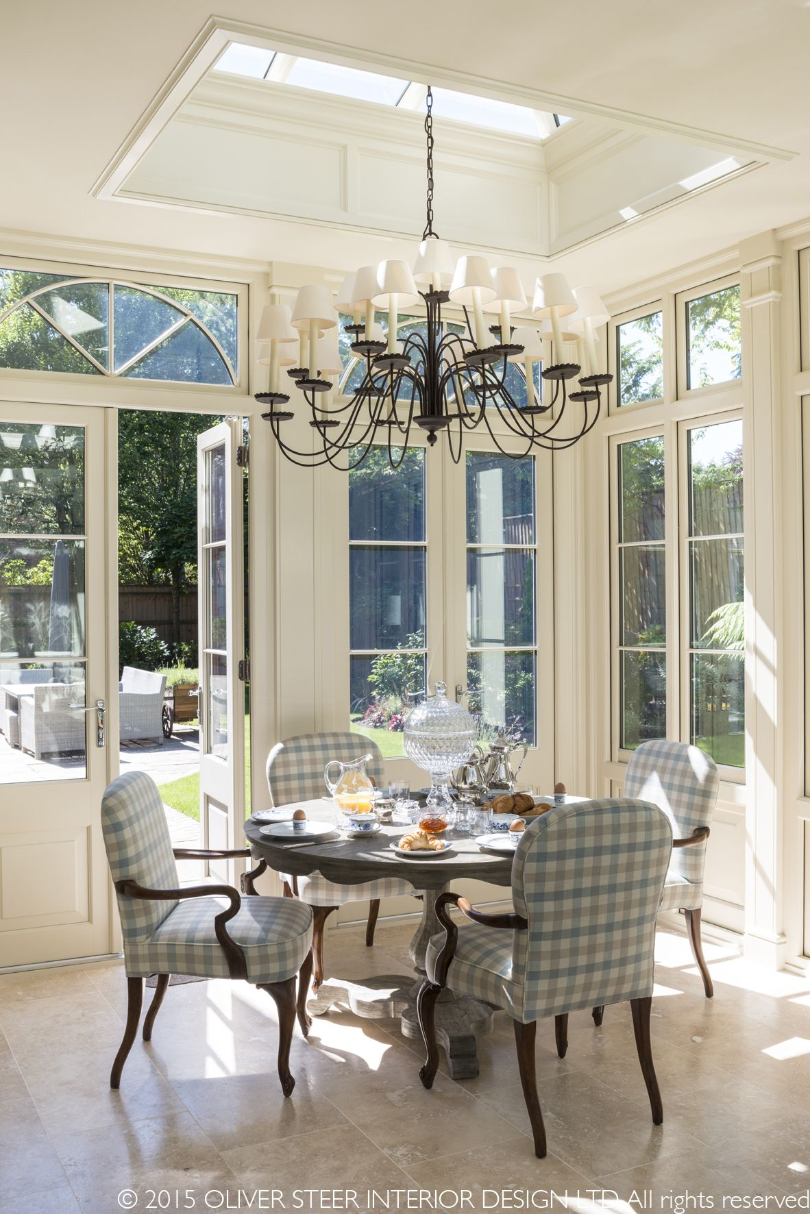 Conservatory Room Addition In The Uk 1040x1485 In 2020: Quiet Lunch In The Sunshine, Designed And Decorated By Oliver Steer