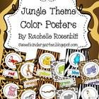 This set contains 11 posters featuring jungle animals and backgrounds.  The colors are:  red  orange  yellow  green  blue  purple  pink  gray  brown  black  w...