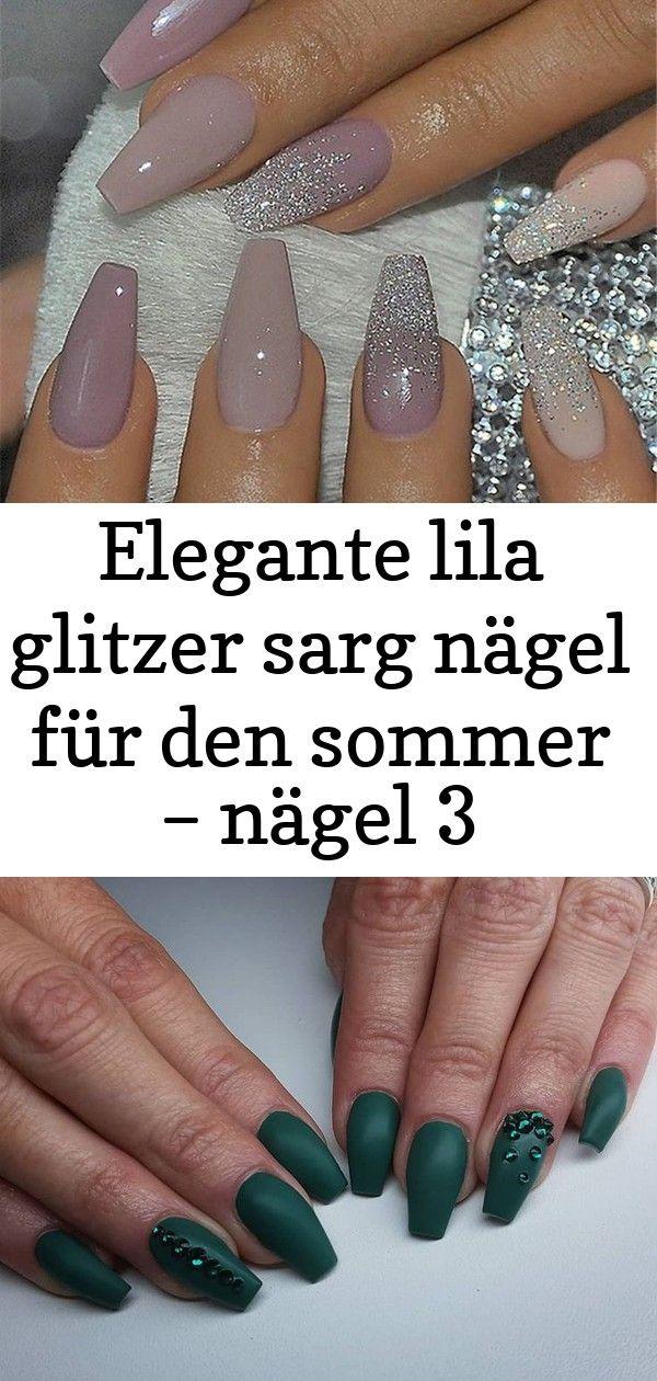 Elegante lila glitzer sarg nägel für den sommer  nägel 3 Elegante lila Glitzer Sarg Nägel für den Sommer Nägel 21 Einfache und süß...