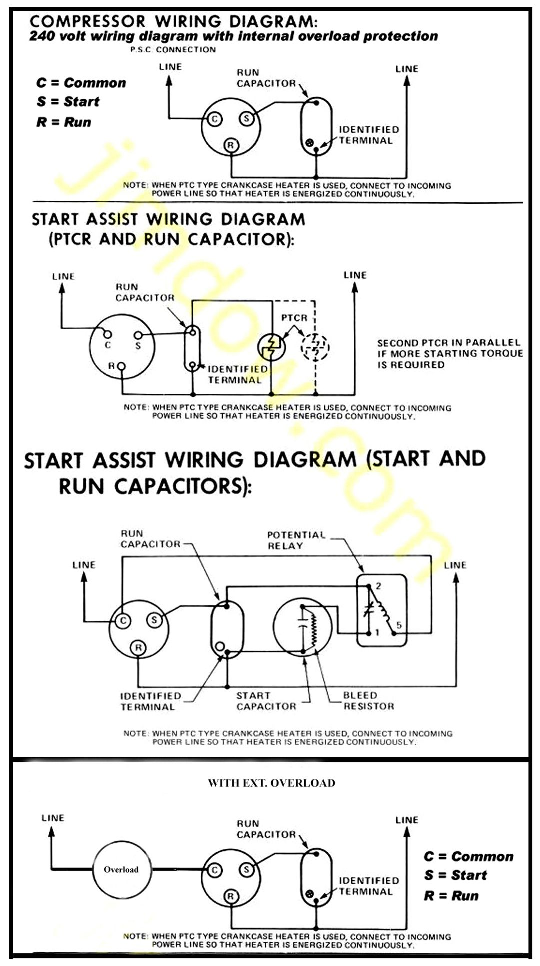 Wiring Diagram For 220 Volt Air Compressor - bookingritzcarlton.info |  Refrigeration and air conditioning, Hvac air conditioning, Air conditioner  compressor
