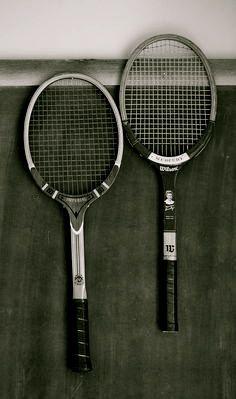 Vintage tennis rackets