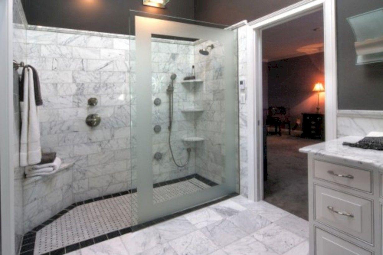 32 Amazing Doorless Shower Design Ideas Matchness Com Shower Remodel Doorless Shower Design Bathroom Remodel Shower