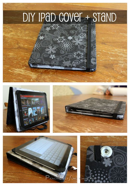 A More Than Practical Diy Ipad Book Cover And Stand Ipad Cover
