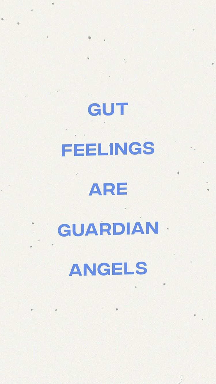Gut Feeling Are Guardian Angels Motivational Inspirational Life Quote Words Quotes Happy Words Quotes