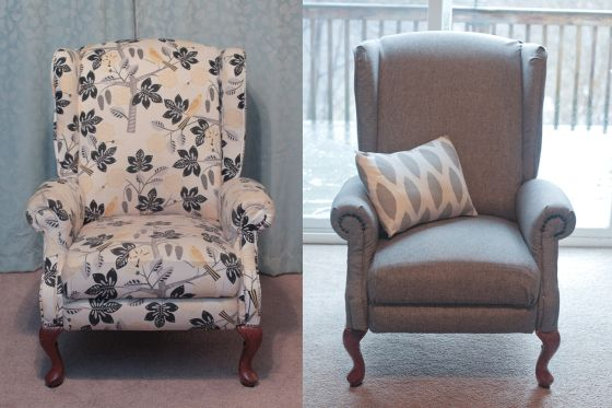 Reupholstering A Reclining Wingback Chair