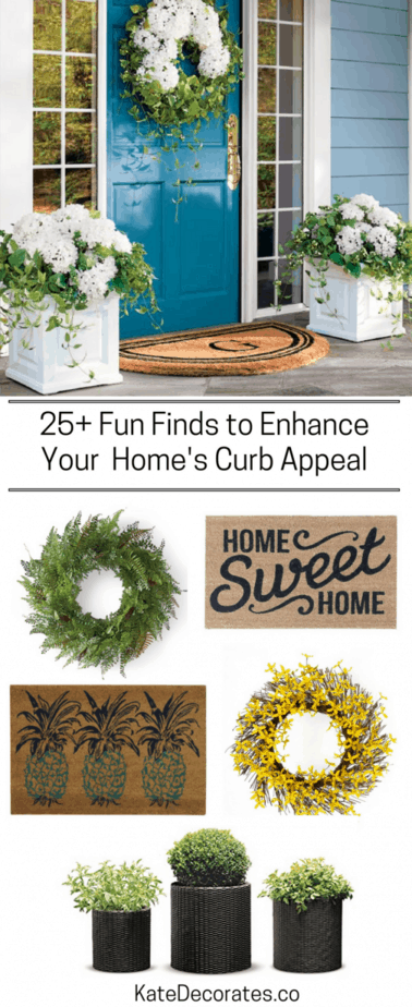 25+ Fun Finds To Kick Up Your Curb Appeal This Spring | Kate Decorates