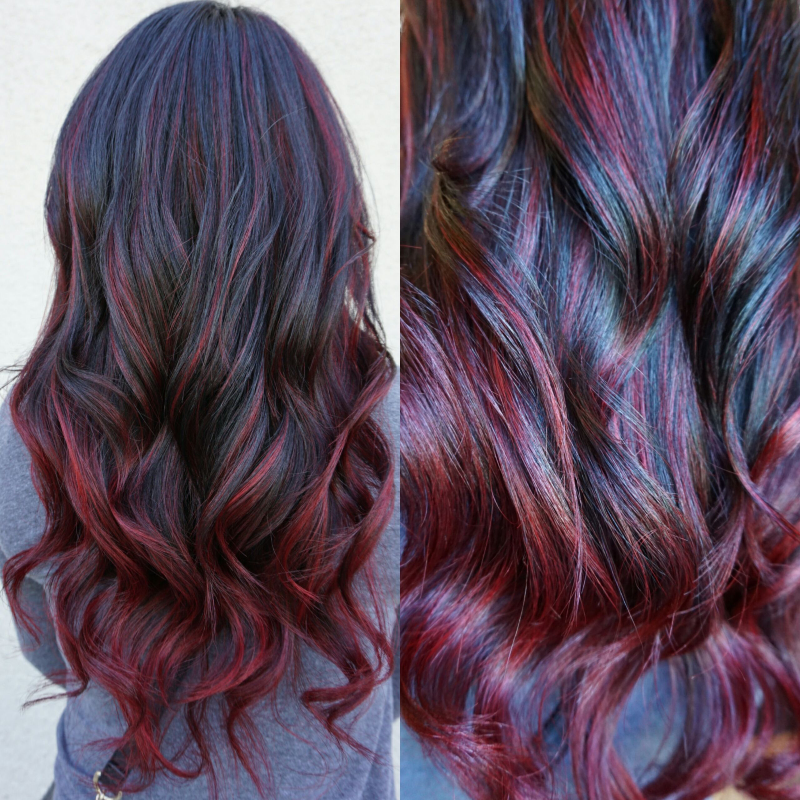 21 amazing dark red hair color ideas bright red highlights dark correction ombre to red sombre career dark hair with redred highlights pmusecretfo Images