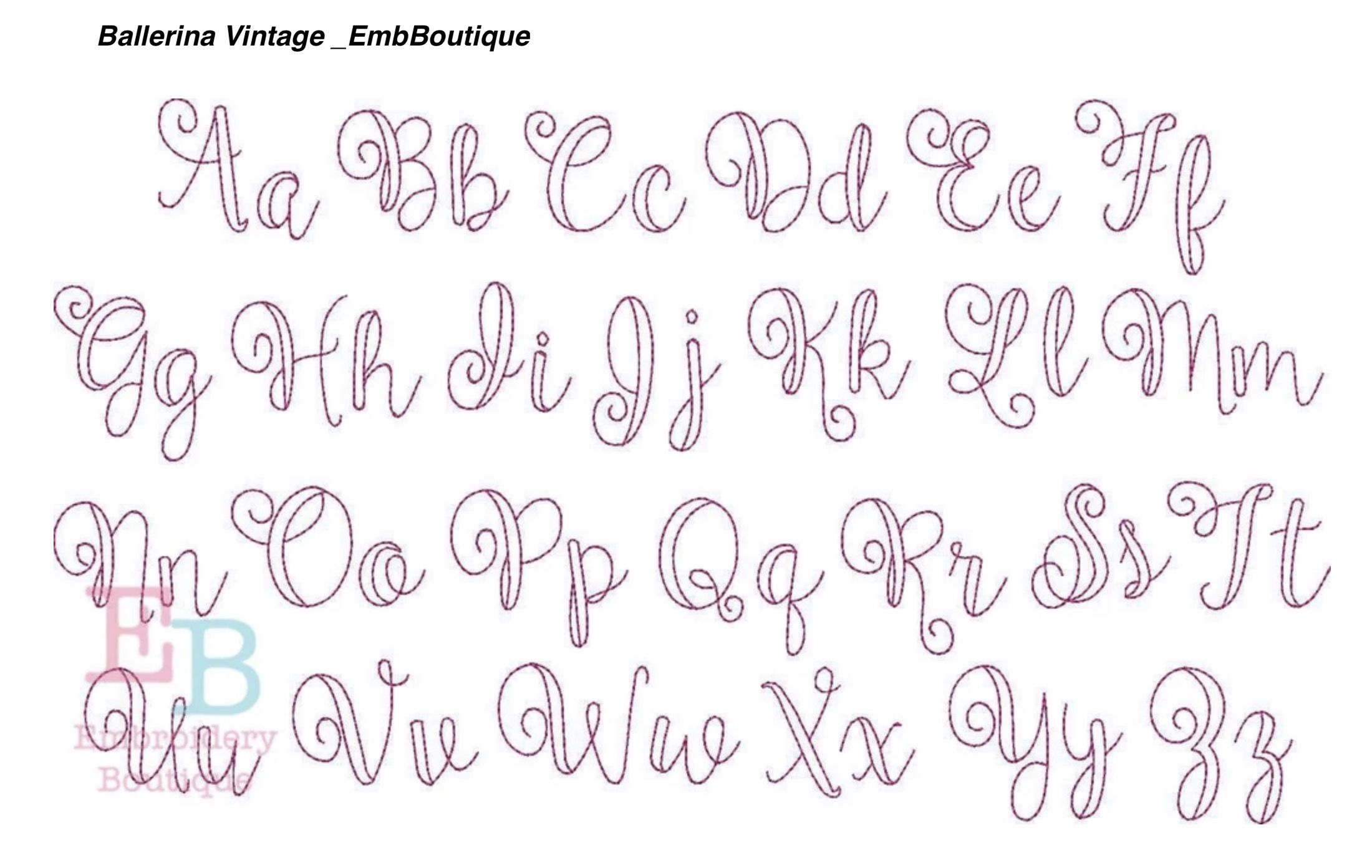 Elegant Floral Initials Embroidery Patterns Vintage Embroidery Monogram Embroidery Fonts