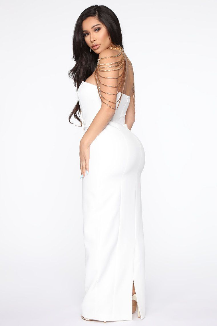 Dressed for the occasion maxi dress white in 2020