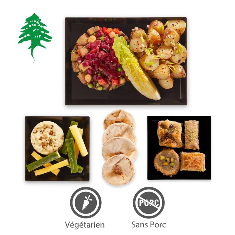 Collection Automne-Hiver 2016-2017.   Menu F2 - Salade d'aubergines et pommes de terre - 27,90€ HT.