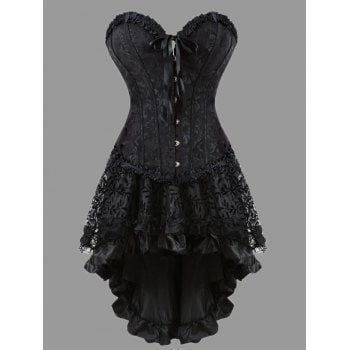 share  get it free  flounce plus size two piece corset