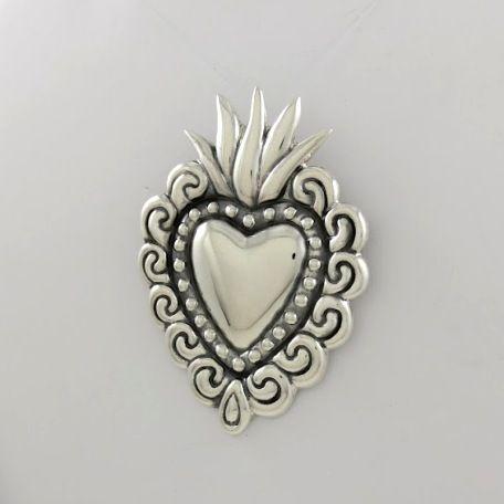Sterling sacred heart pendant by maria belen nilson glint silver sterling sacred heart pendant by maria belen nilson glint silver worksglint silver works aloadofball Images