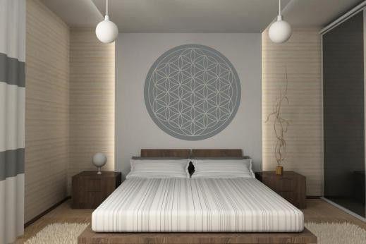 blume des lebens 2 wandtattoo wandsticker und wandaufkleber deine corridor. Black Bedroom Furniture Sets. Home Design Ideas