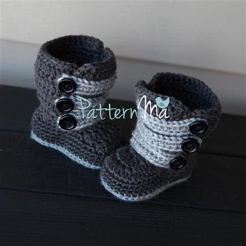 Baby Bootie Pattern PDF Strappy Boots #1 by PatternMa on Etsy https://www.etsy.com/listing/110815642/baby-bootie-pattern-pdf-strappy-boots-1