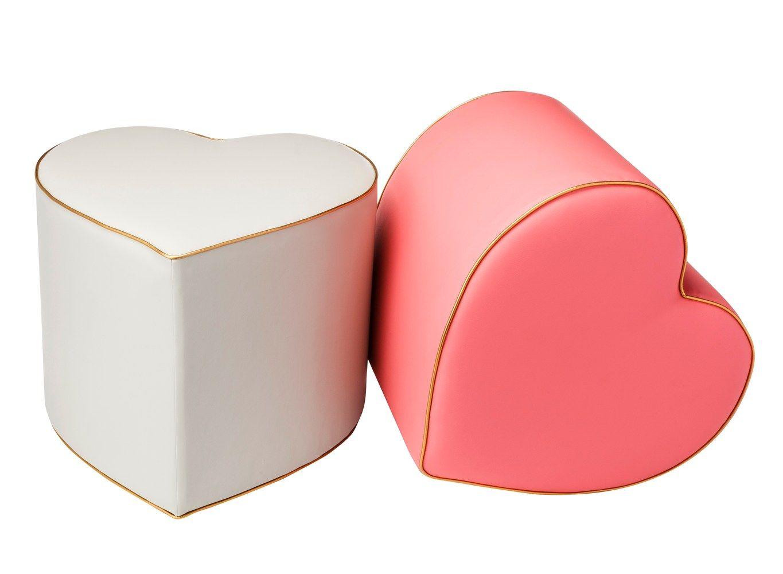 Terrific White And Pink Heart Shaped Ottomans From The Oh Joy Inzonedesignstudio Interior Chair Design Inzonedesignstudiocom
