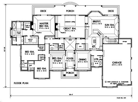 Home Plan The Bellaire By Donald A Gardner Architects